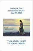 2016-05-29 Sermon