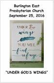 2016-09-25 Bulletin
