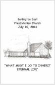 2016-07-10 Sermon